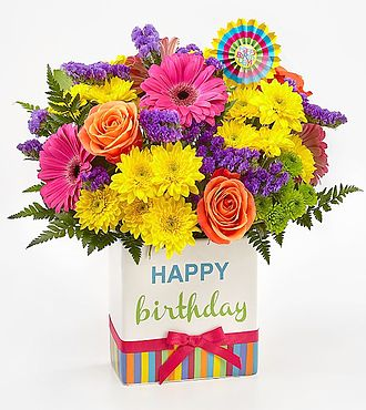 Birthday Brights Bouquet-Flower Delivery Same Day