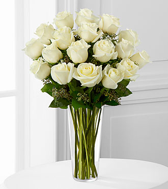 White Rose Bouquet - Same Day Delivery