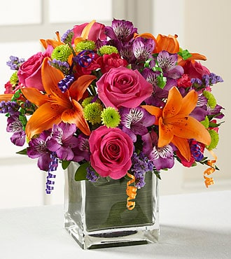 Same Day Flower Delivery orange pink