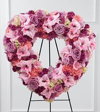 FTD Eternal Rest Standing Heart - Funeral Flowers