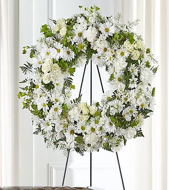 Faithful Wishes Wreath Funeral Flowers