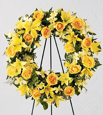Friendship Wreath Funeral Flowers