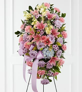 Funeral Flowers Blessing of the Earth Easel