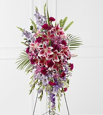 Funeral Flowers Tender Touch Standing Spray FTD