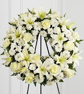 Funeral Flowers Treasured Tribute Wreath FTD