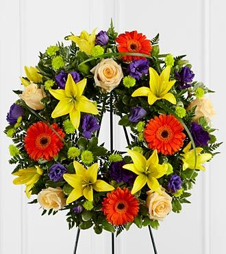 Radiant Remembrance Wreath Funeral Flowers