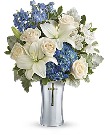 Symathy Flowers Skies Of Remembrance Bouquet