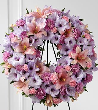 Wreath Fueral Flowers pink