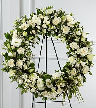 Funeral Flowers Splendor Wreath FTD