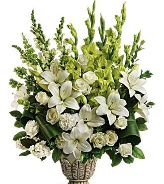 Sympathy Flowers CloudsOfHeavenBouquetPM