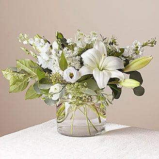 Alluring Elegance white Bouguet