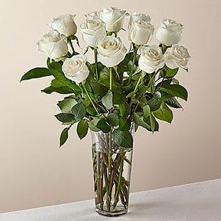White Roses Flower Bouguet